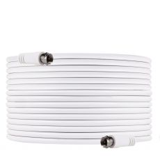 GE 50ft. RG6 Coaxial Cable with F-Type Connectors, White