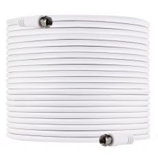 GE 100ft. RG6 Coaxial Cable with F-type Connectors, White