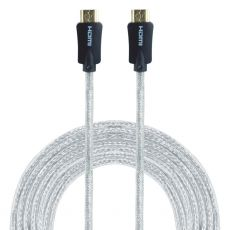 GE Pro Premium 12 ft. HDMI Cable with Ethernet, Silver