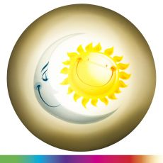 Lights by Night Sun and Moon Battery Operated Color-Changing LED Night Light
