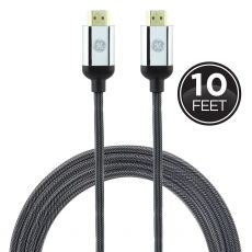 GE UltraPro 10ft. HDMI Cable with Ethernet, Black