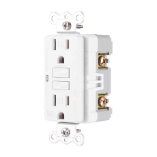 GE Weather Resistant GFCI Outlet, White