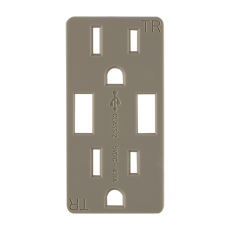 GE In-Wall Receptacle Faceplate, Matte Ivory