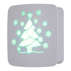 Lights by Night Christmas Tree CoverLite Automatic LED Night Light, White