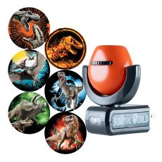Projectables Jurassic World Light Sensing 6-Image LED Night Light, Black