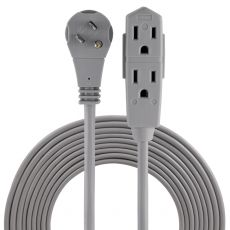 GE 3-Outlet 15 ft. Indoor Extension Cord, Gray