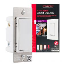 Enbrighten Zigbee In-Wall Smart Dimmer with QuickFit™ and SimpleWire™, White/Almond