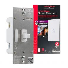 Enbrighten Zigbee In-Wall Smart Toggle Dimmer with QuickFit™ and SimpleWire™, White