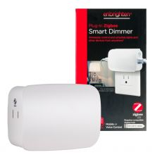 Enbrighten Zigbee Plug-In Smart Dimmer with Dual Controlled Outlets, White
