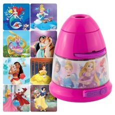 Projectables Princesses Tabletop 8-Image LED Night Light, Pink