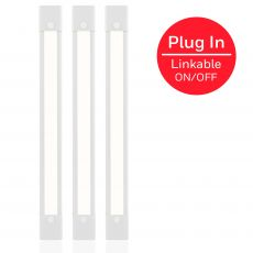 Honeywell 12in. Capacitive Touch Plug-In Linkable LED Light Fixture, 3-Pack