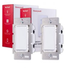 Honeywell Z-Wave In-Wall Smart Dimmer, 2-Pack, White
