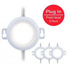 Honeywell Prelinked Plug-In LED Puck Lights, 3 Pack, White