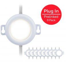 Honeywell Prelinked Plug-In LED Puck Lights, 9 Pucks