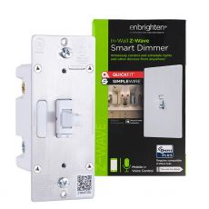 GE Enbrighten Z-Wave In-Wall Smart Dimmer with QuickFit™ And SimpleWire™ Toggle, White