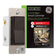 GE Enbrighten Z-Wave In-Wall Smart Dimmer with QuickFit™ and SimpleWire™, Brown
