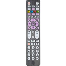 GE 6-Device Backlit Universal Remote, Brushed Black