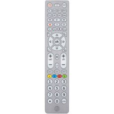GE 8-Device Backlit Universal Remote, Brushed Silver