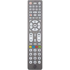 GE 8-Device Backlit Universal Remote, Brushed Graphite