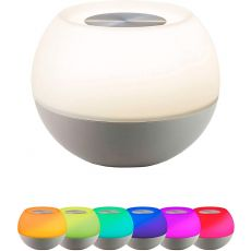 Enbrighten USB-Powered Color-Changing Tabletop LED Mini Bowl Night Light, Gray