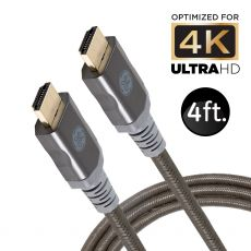 GE 4ft. 4K HDMI Cable with Ethernet, Black