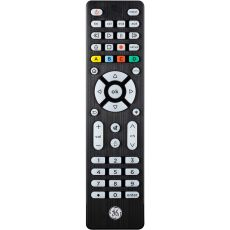 GE 4-Device Backlit Universal Remote, Brushed Black