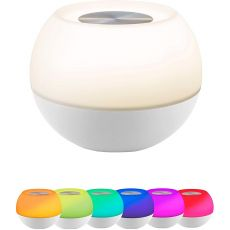 Enbrighten USB-Powered Color-Changing Tabletop LED Mini Bowl Night Light, White
