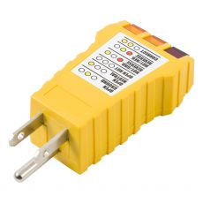 Power Gear 3-Wire Receptacle Tester, Yellow