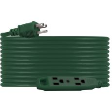 UltraPro 3-Outlet 50ft. Heavy Duty Indoor/Outdoor Extension Cord, Green