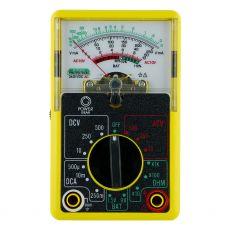 Power Gear 14-Range Analog Multimeter, Yellow