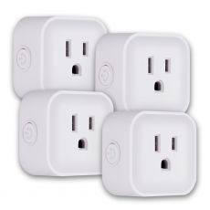 UltraPro Plug-In Mini WiFi Smart Switch, 4 Pack, White