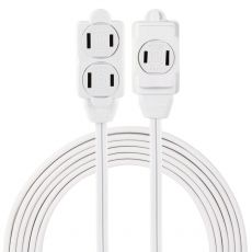 GE 3-Outlet 9 ft. Extension Cord, White