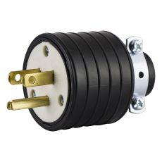 GE Grounding Heavy Duty Plug, Black