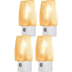Lights by Night Automatic Incandescent Night Light, White, 4 Pack