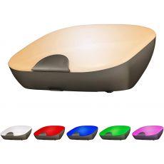 Enbrighten Tabletop Dimmable Color-Changing LED SleepLite, Dark Gray