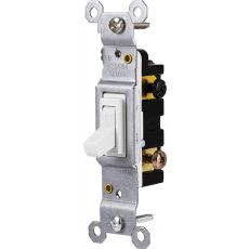 GE Grounding Toggle Switch, White
