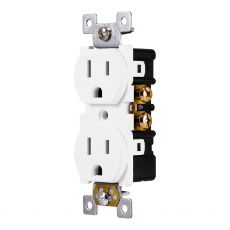 GE Grounding Safety Outlet, White