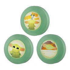 Star Wars The Mandalorian The Child Battery Operated LED Puck Light, 3 Pack, Green
