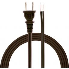 GE 8ft. Polarized Replacement Lamp Cord, Brown