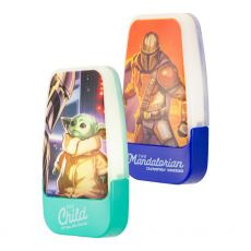 Star Wars The Mandalorian Light Sensing LED Night Light, 2 Pack, Blue/Green
