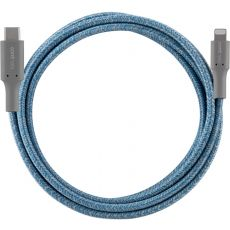 Cordinate 6ft. USB-C Lightning Charging Cable with Braided Cord, Blue/Gray