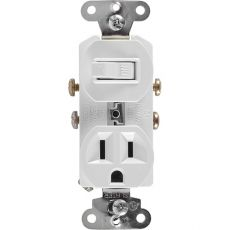 GE Wall Switch and Outlet Receptacle, White