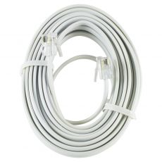 Power Gear 25 ft. Phone Line Cord, White
