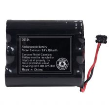 Power Gear Rechargeable, Cordless Phone Battery, 3.6V, 700mAh, NiMH, Black