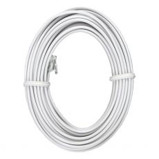 Power Gear 15 ft. Phone Line Cord, Modular Jack Ends, White