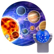 Projectables Solar System Light Sensing LED Night Light, Blue