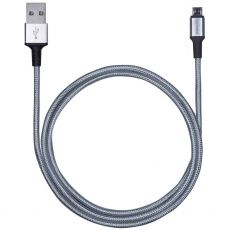 Philips Elite 3 ft. Micro USB Charging Cable, Silver