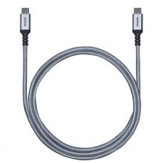 Philips Elite 6 ft. USB-C Braided Charging Cable with Aluminum Connectors, Silver