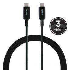 Philips 3ft. USB-C Charging Cable, Black
