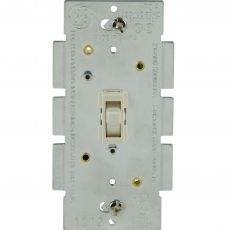 GE Dimmer Toggle, Light Almond